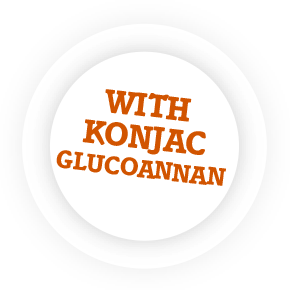 With konjac glucomannan