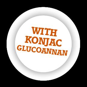 With konjac glucomannan